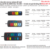 Ổ CẮM 2D2S32, 2D2S52, 3D3S32, 3D3S52, 4D6S32, 4D6S52| LIOA NHẬT LINH