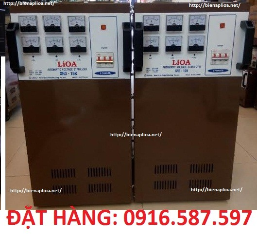 ổn áp lioa 15kva 3 pha 160v-430v sh3 10k