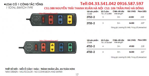 Ổ CẮM LIOA 3 Ổ 4 Ổ 3M 5M