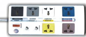 ổ cắm kép dài đa năng trung tâm có mạch chống sét đường thông tin