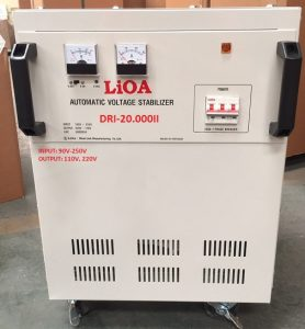 20KW DẢI 50V-250V |ỔN ÁP LIOA 1 PHA DRII-20000II,LIOA 20KW 100% DÂY ĐỒNG