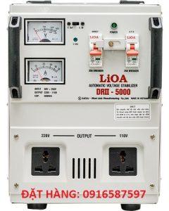 LIOA DRII-5000II,ỔN ÁP 5KW DẢI 50V-250V HÀNG DÂY ĐỒNG CHÍNH HÃNG