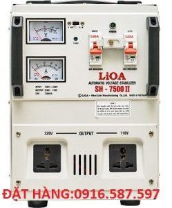 ỔN ÁP LIOA SH-7500II,LIOA 7,5KVA DÂY ĐỒNG XỊN