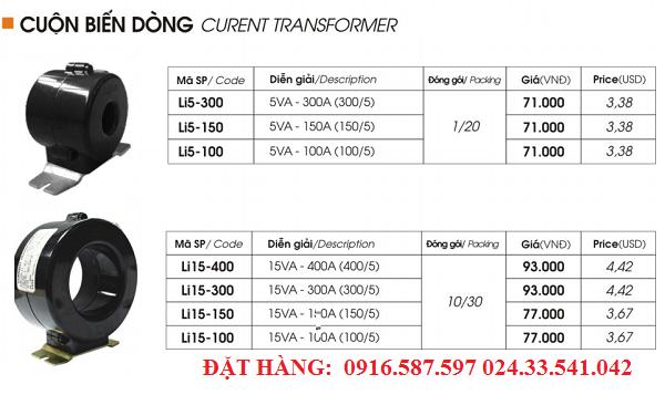 bán bộ biến dòng li5 li15 300a 400a 150a 100v